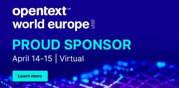 Doctra ist stolzer Sponsor der OpenText World Europe 2021